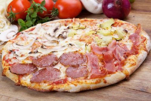 4-stagioni olasz vékony tésztás pizza debrecen